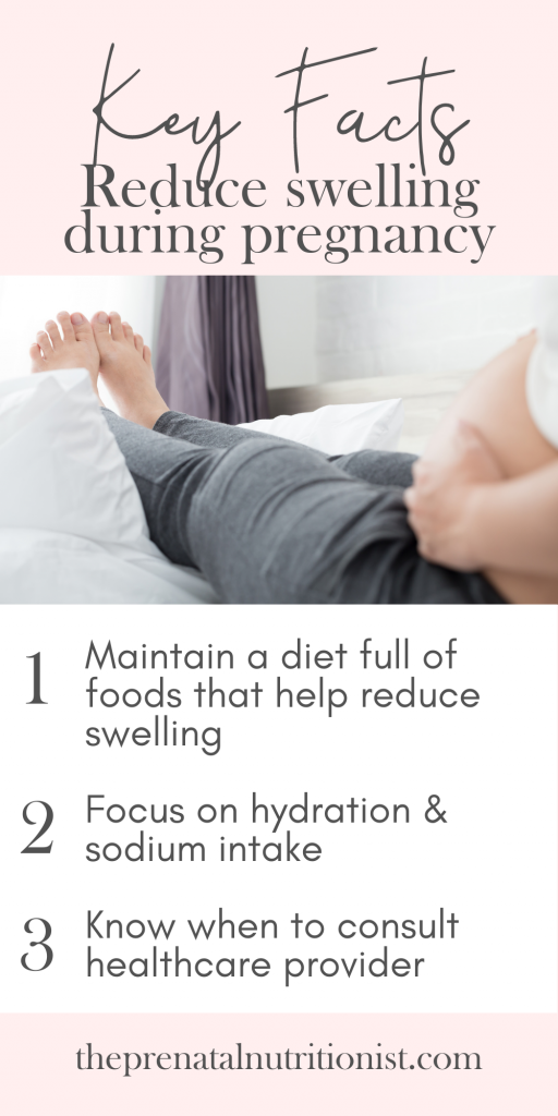 Fact for reducing swelling during pregnancy