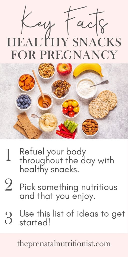 Healthy snack ideas for pregnant women