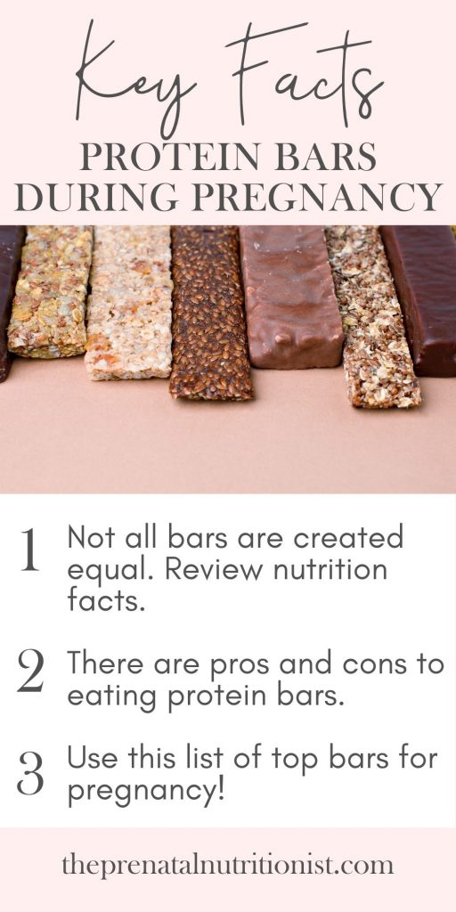 protein bars for pregnant women