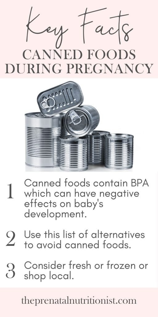 Effects of canned food to pregnancy